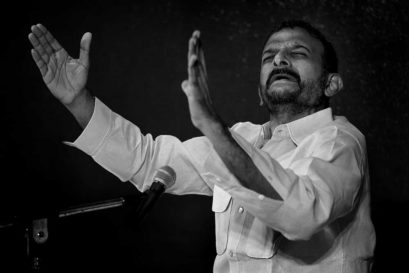 TM Krishna at a concert
