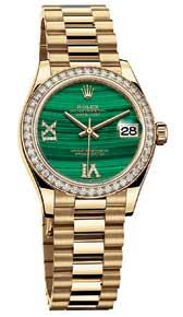 ROLEX: OYSTER PERPETUAL DATEJUST 31MM IN YELLOW GOLD