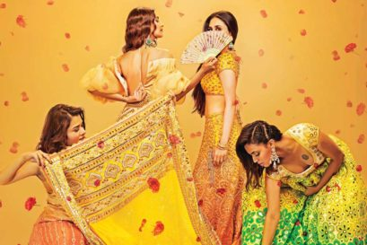 (L-R) Shikha Talsania, Sonam Kapoor Ahuja, Kareena Kapoor Khan and Swara Bhaskar in Veere Di Wedding