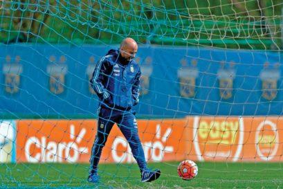 Argentina's coach Jorge Sampaoli
