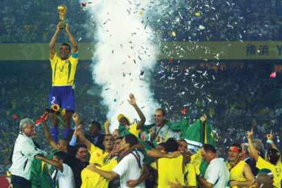 By defeating Germany in the 2002 World Cup final in Yokohama, Brazil won their fifth title