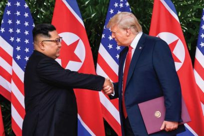 Donald Trump with Kim (Photo: Getty Images)