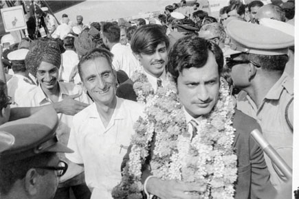 Ajit Wadekar, April 1971, on his return from England