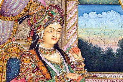 A miniature portrait of Nurjahan