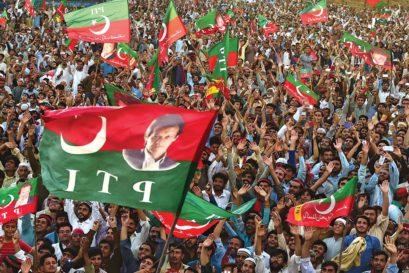 An Imran Khan election rally