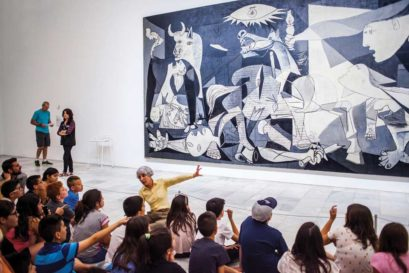 Guernica by Pablo Picasso, on display at the Reina Sofia National Art Museum, Madrid