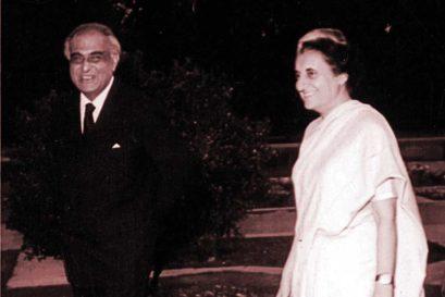 PN Haksar with Indira Gandhi