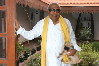 Karunanidhi at his home in Chennai, 2007