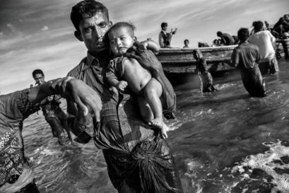 Rohingya refugees fleeing Myanmar arrive in Cox's Bazar, Bangladesh