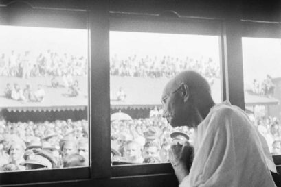 In his autobiography, Gandhi traces the 'advent of Satyagraha' in India to an encounter with a man on his way to Rajkot in 1915