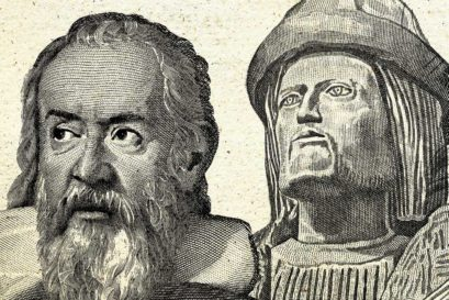 (L to R) Galileo Galilei (1564-1642) and Garcia d'Orta (1501-1568)