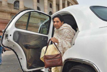 Mayawati in Delhi
