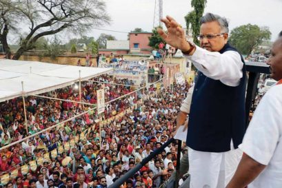 Raman Singh in Pandharia, Kabirdham district, Chhattisgarh