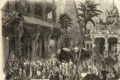 A depiction of Kanchipuram in Tamil Nadu, 1857