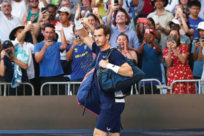 Andy Murray bids farewell to the Australian Open in Melbourne