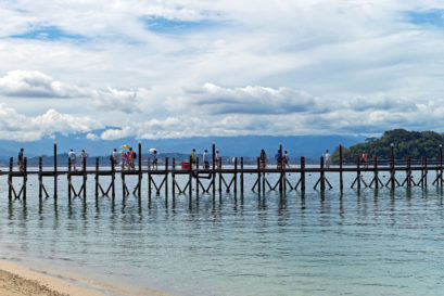 A pier at Kota Kinabalu, the capital of Malaysia's Sabah state in Borneo