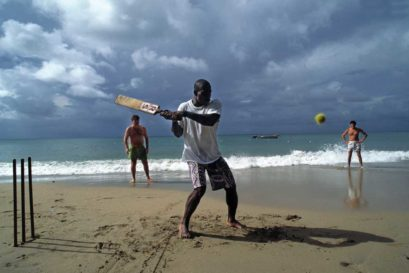 Cricket stretches from beaches to the streets of St Lucia