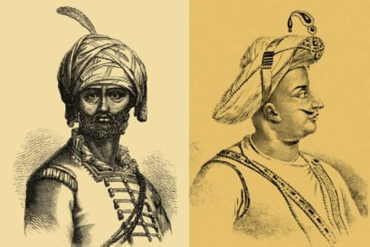 Hyder Ali (left) and Tipu Sultan