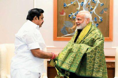 Tamil Nadu Chief Minister Edappadi Palaniswami with Narendra Modi