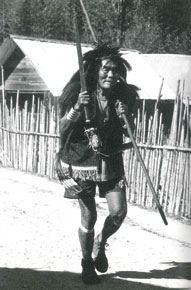 An Apa Tani wearing a bear-skin ritual costume (Courtesy: Soul Survivors: Apa Tani, Konyak, Tibetan Nomads)