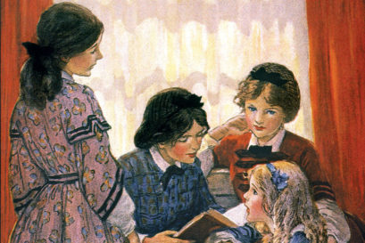An illustration of Louisa May Alcott's Little Women