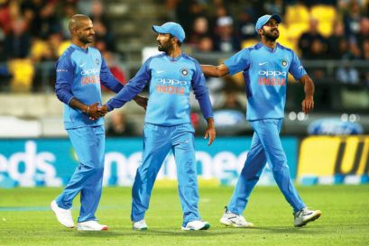Dinesh Karthik (centre) and Vijay Shankar (right) made it to India's 15-member World Cup squad