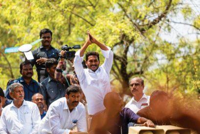YS Jagan Mohan Reddy, leader of YSR Congress Party, in Pulivendula, YSR-Kadapa district