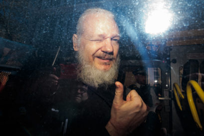 Julian Assange appears at Westminster magistrates court on April 11, 2019