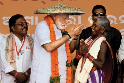 Narendra Modi at an election rally in Jeypore