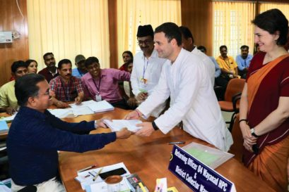 Rahul Gandhi files his nomination in Wayanad, April 4