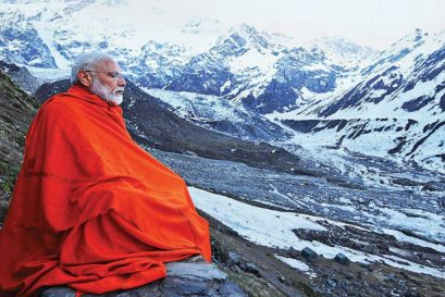 Modi in meditation, Kedarnath, May 18