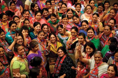 BJP candidate Kirron Kher (centre)