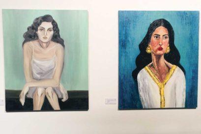 Self portrait by Bahraini artist Lulwa Al-Khalifa